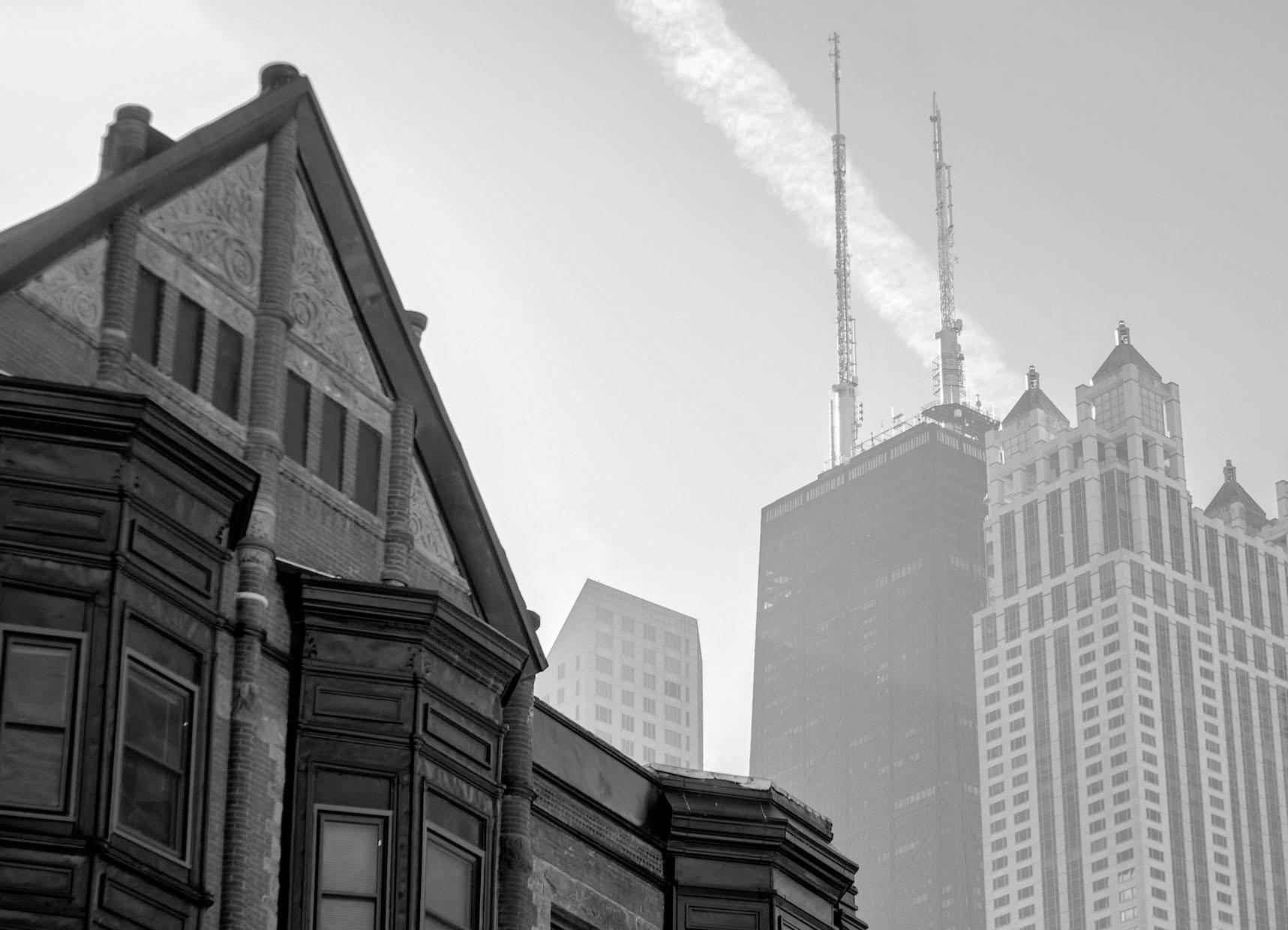 Contrastes de arquitectura en la ciudad de Chicago